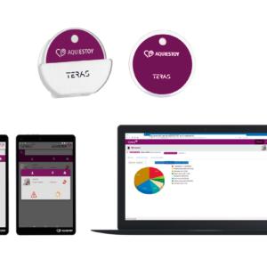 Locator/informant (top), AQUIESTOY tablet application (bottom left), TERASALUD web application (bottom right)