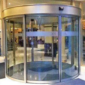 Circular automatic door