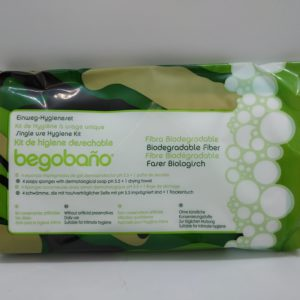 Bioegradable Hygiene kit (4 biodegradable sponges + 1 Drying Cloth)