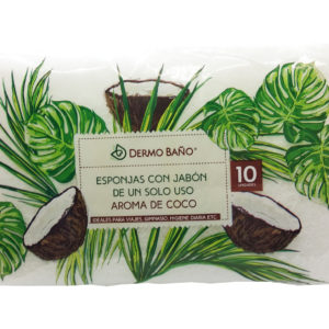 Single Use Soapy Sponges – Coconut Perfum – 10 units